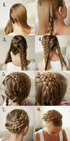 An easy tutorial for the Crown Braid #inspiration #hair #tutorial #hairstyle #crown #braid