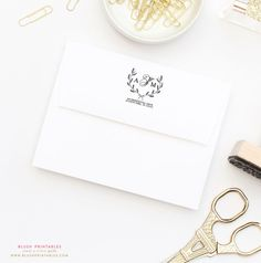 Personalized Return Address Stamp 2x2 Wooden by blushprintables