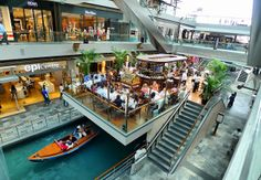 Restaurants, Casino, Shopping Center of Marina Bay Sands Hotel : Marina Bay Sands Hotel Inside. Shopping Street, Shopping Malls, Singapore Travel Tips, Sands Hotel, Residential Complex, Travel Aesthetic, Marina Bay Sands, The Good Place, Skyscraper