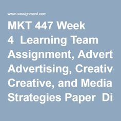 Mkt  Advertising And Creative Strategy Week  Individual