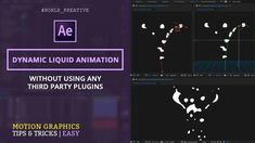 Create Dynamic Liquid Animation in After effects | Easy