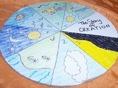 This Seven Days of Creation Wheel helps kids re-tell the Biblical creation story. Teach kids about the stories in the Bible with Sunday school crafts for kids like this amazing colored wheel that reminds kids of the stories they read.