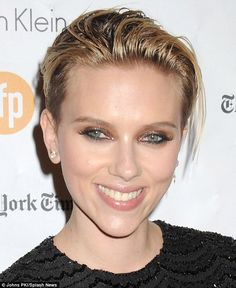 Sparkling beauty: Scarlett beamed at the event with her new husband