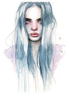 Moody, Giclée print (from a painting) by Tomasz Mrozkiewicz | Artfinder
