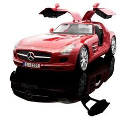 """""""The Mercedes-Benz SLS AMG was developed by Mercedes to replace the SLR McLaren. The car is the first Mercedes automobile designed in-house by AMG and is described by Mercedes-Benz as a spiritual successor to the Mercedes-Benz 300SL Gullwing. The SLS AMG is the cover car for Gran Turismo 5 and is the safety car for the 2011 Formula One season. This diecast version from Maisto is from their Premiere Edition line and features some great details!""""Quoted from Amazon"""