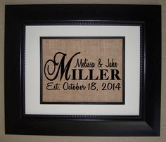 ~ Newest Design by BellaTara~    This Personalized Monogram Burlap Print is custom made for you in any letter .    Burlap is the perfect Home Decor