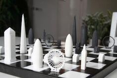 Piezas de ajedrez basadas en rascacielos #Cool