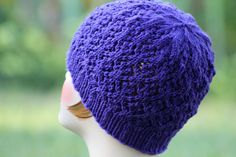 Floral Mesh Beanie Balls to the Walls Knits, A collection of free one- and two- skein knitting patterns