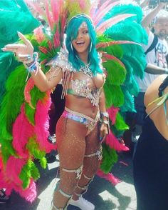 Rihanna on this years Barbados carnival is the Queen