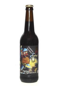 Cerveja Caribbean Rumstout, estilo Russian Imperial Stout, produzida por Hornbeer, Dinamarca. 10% ABV de álcool.