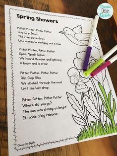 Poem of the Week Activities Plus a FREEBIE! - Create Dream Explore