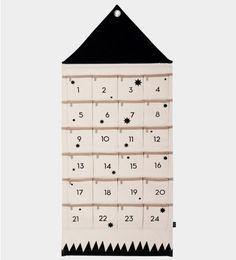 House Christmas calendar or wall storage solution. Scandinavian Home Shop. Surprises Christmas