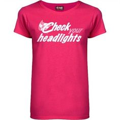 Chase Authentics Check Your Headlights Breast Cancer Awareness Women's T-Shirt - $19.95