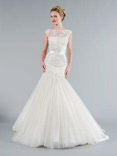 Tony Ward - Bateau A-Line Gown in Tulle. I will wear this dress!