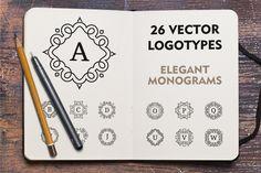 Vector monogram logotypes by Qilli Design on Creative Market