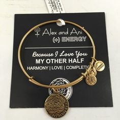 Alex and Ani bracelet! My other half, Russian gold new with tag and card! Alex & Ani Jewelry Bracelets