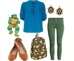 10 adorable fall outfits inspired by our favorite Teenage Mutant Ninja Turtle characters.