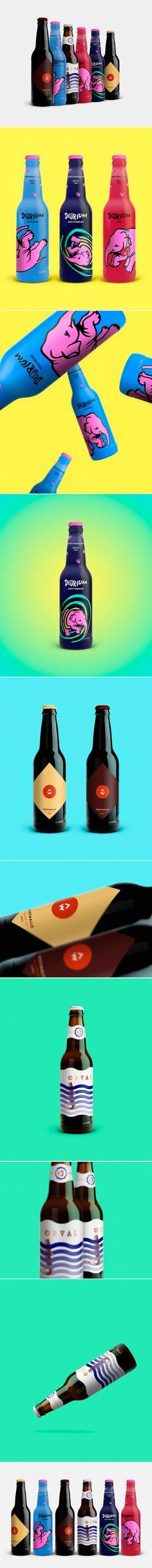 Ján Bača - Belgian Beers Labels Redesign (concept)