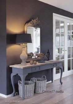 Uncover inspiration for your next blue hallway walls update. Behr has blue entryway paint colors to accent any style you want to feature in your home. Hallway Decorating, Decorating Your Home, Blue Hallway, Painted Furniture, Home Furniture, Home And Living, Living Room, Interior Inspiration, Sweet Home