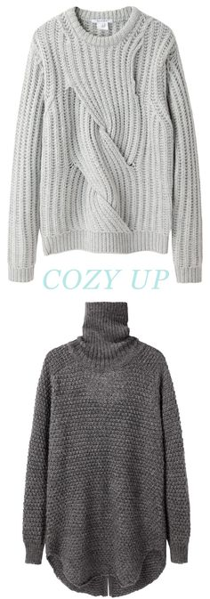 cozy up to neutral sweaters