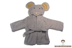 BourgeoisBebe Mouse Hooded Woven Organic Terry Cotton Baby Towel - Luxuriously Soft - Designer Quality - $19.97