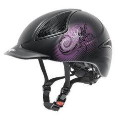 New UVEX helmet with purple detail.