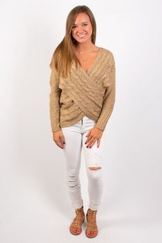 That's a Wrap Sweater - Taupe