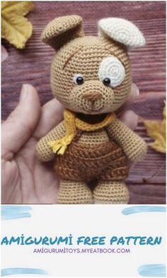 Crochet Bear Patterns, Crochet Animals, Dog Pattern, Free Pattern, Crochet Yarn, Knitting Yarn, Popular Crochet, How To Start Knitting, Yarn Projects