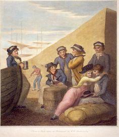 Sailors Ashore by Wm Bunbury ca 1785. Private collection