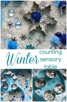 Winter Counting Sensory Table. For when Avi is past the toys-in-mouth age, we have the same water table already.