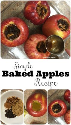Healthy Baked Apples Recipe - healthy and scrumptious at the same time!  YUMMY!