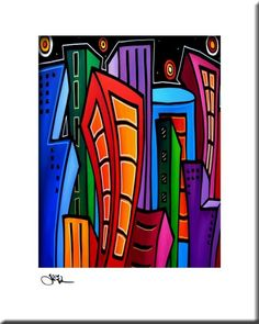 Where Its At Modern Original Contemporary Abstract by fidostudio, $25.00