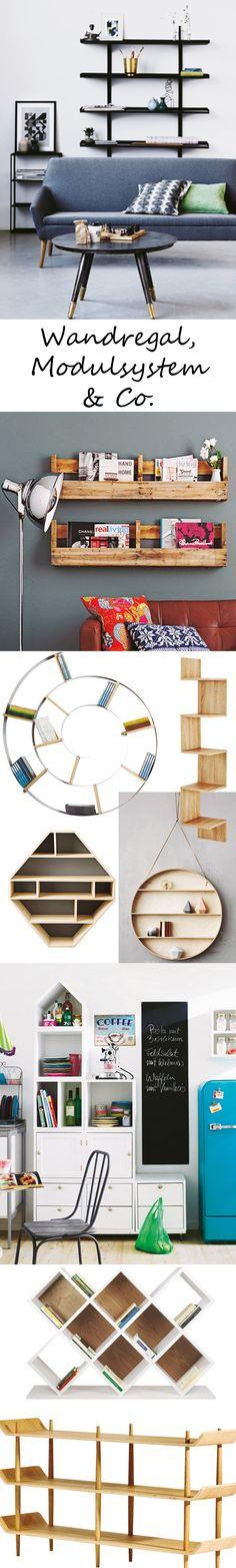 Ob große Bibliothek oder Mini-Sammlung: Für jeden Einsatzort gibt es passende hübsche Regale – fix und fertig oder zum Selbermachen >>>