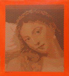 Tiziano naranja, lienzo 49.5x49.5