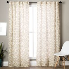 Add texture to your window treatments with this elegant curtain panel from Madison Park. It comes unlined, which allows plenty of natural light to filter in, and it comes in three different fashion colors to coordinate with your room.