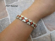 Arcos Beads Bracelet Tutorial, Beaded Bracelet, Beading Bracelet, DIY Bracelet, Beadwork Pattern, Jewelry Tutorial, Kathy Bracelet This PDF beading tutorial includes instructions for a pretty bracelet. You can use the colors I did (both color combinations) or you can use the colors of