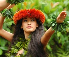 prettyy dancer at the Polynesian Cultural Center in HI~