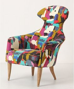 Two Anthropologie Soren Chairs - Painters Pallet  —