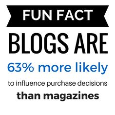Blogs are perceived as far more trustworthy than magazines. Bloggers are more objective, and it's a common fact that magazines are paid to publish nice editorials. If you haven't incorporated blogging into your marketing mix yet, stop reading this and start!
