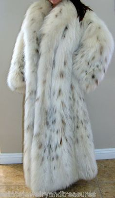 RARE $200 000 Galanos for Neiman Marcus Russian Belly Lynx Fur Coat | eBay