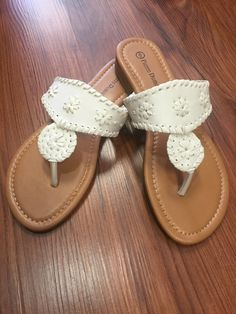 f63895d6b8b Jack Rogers Inspired Sandals - White from Chocolate Shoe Boutique