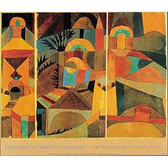Paul Klee's vibrant Temple Garden (1920) - another earth tone pallet for a room