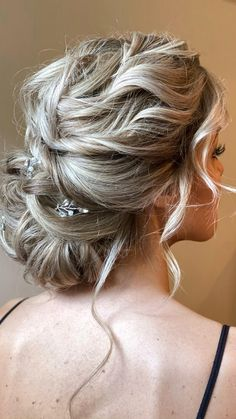 Bridal Hair Updo, Bridal Hair Vine, Wedding Hair And Makeup, Hair Styles For Wedding, Fine Hair Updo, Mother Of The Groom Hairstyles, Bride Hairstyles, Bridesmaids Hairstyles, Classy Updo Hairstyles