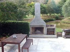 nz outdoor fireplaces - Google Search