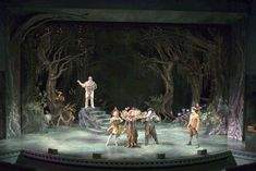 scenic design - Căutare Google love the trees and lighting-- may work for battle scene of Hapenny Magick