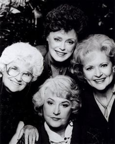 The Golden Girls: Estelle Getty, Rue McLanahan, Betty White & Bea Arthur.