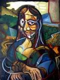 mona lisa #6 Picasso style
