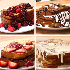 Coconut and raspberry rye pancakes from donna hay fresh light 4 french toast 4 ways tasty on buzzfeed ccuart Images