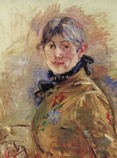 Berthe Morisot - Self Portrait, 1885. French Impressionist painter. Lived from 1841-1895.