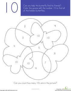 Color the right number to reveal the picture. Sight has 1-20 in Free printable.